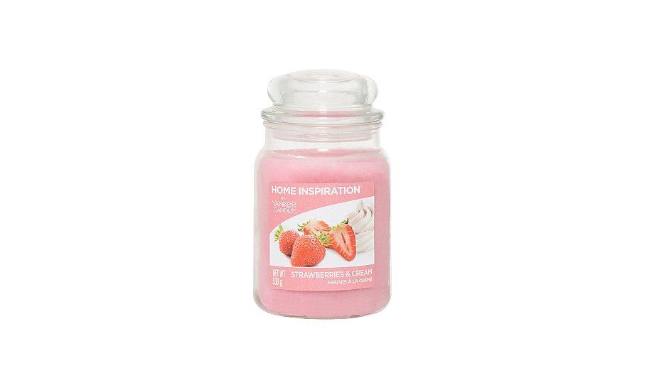 yankee candle home inspiration large jar strawberries. Black Bedroom Furniture Sets. Home Design Ideas