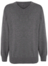 School Unisex V-Neck Jumper - Grey main view