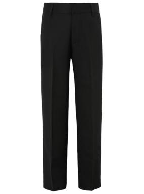 Boys School Flat Front Trousers - Black