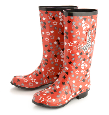 High School Musical Wellies (Red with white and black stars)