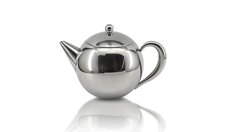 George home stainless steel globe infuser teapot cups - Cup stainless steel teapot ...