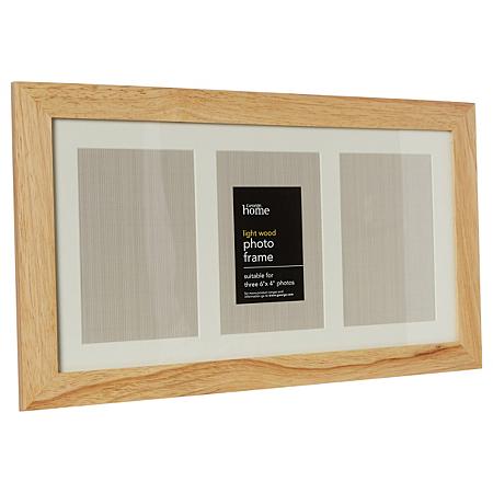 george home light wood 3 image photo frame frames. Black Bedroom Furniture Sets. Home Design Ideas