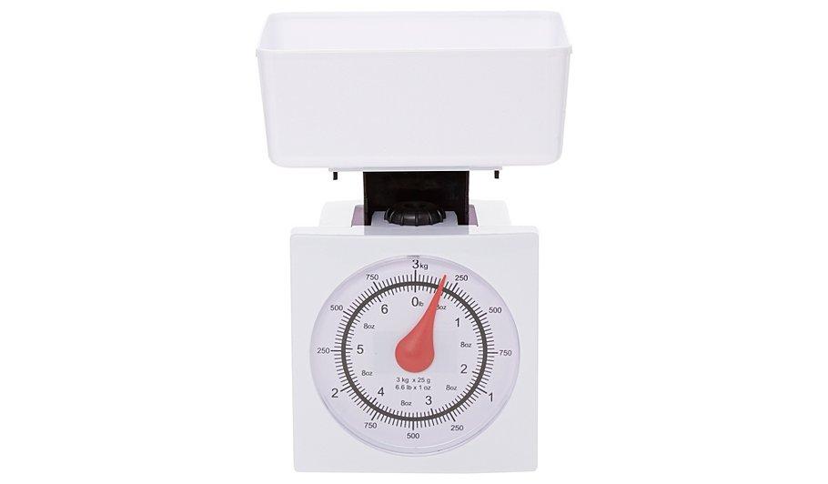 george home white 3kg bowl kitchen scale baking asda. Black Bedroom Furniture Sets. Home Design Ideas