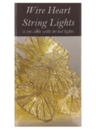 Heart String Lights - Silver