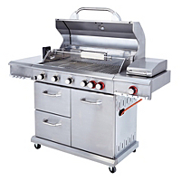 uniflame grill sear 6 burner gas barbecue rotisserie. Black Bedroom Furniture Sets. Home Design Ideas
