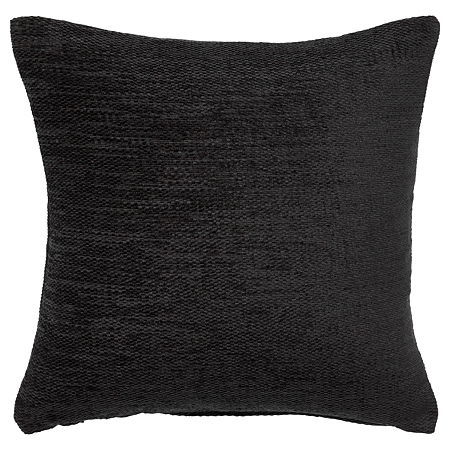 George Home Large Black Chenille Cushion Cushions Asda