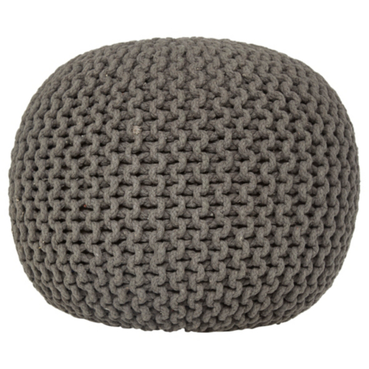 George Home Charcoal Knitted Pouffe Footstools Amp Pouffes
