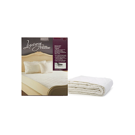 George Home 100 Cotton 5cm Memory Foam Topper Protector