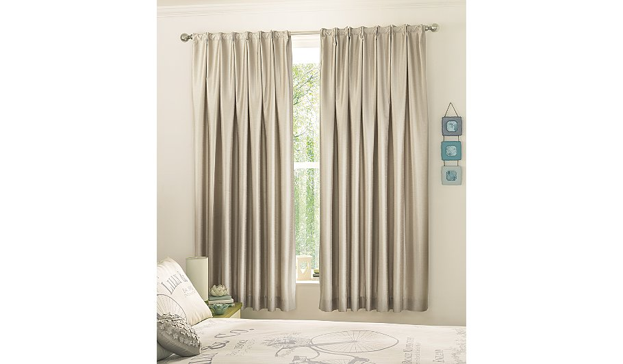 george home natural faux silk bedroom curtains curtains