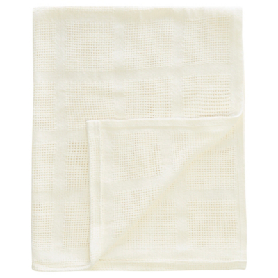 George Home Cream Cellular Shawl Blanket