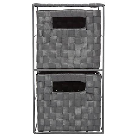 asda grey 2 drawer storage unit storage drawer units. Black Bedroom Furniture Sets. Home Design Ideas