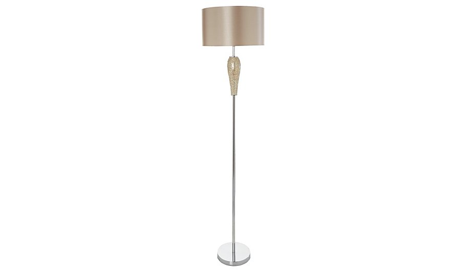 George home gold mosaic floor lamp lighting george at asda for Floor lamp asda