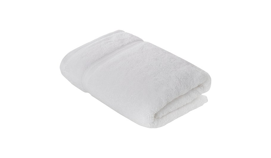 luxury by george home 100 pima cotton hand towel white. Black Bedroom Furniture Sets. Home Design Ideas