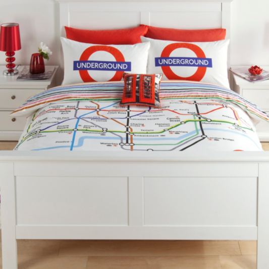 George Home London Tube Map Duvet Set Bedding George