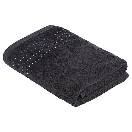 george home diamante hand towel black towels bath. Black Bedroom Furniture Sets. Home Design Ideas