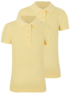Girls School 2 Pack Scallop Polo Shirts main view