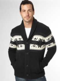 Navy Fairisle Cardigan