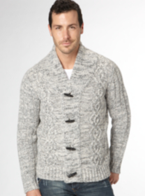 Cable Knit Toggle Cardigan