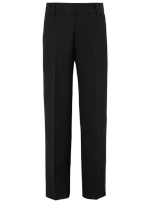 Boys School Flat Front Trousers - Black