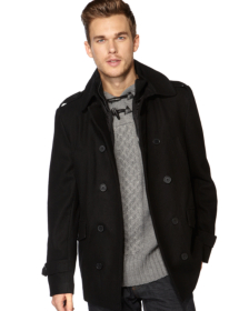 Wool Rich Black Coat