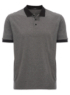 Fine Stripe Polo Shirt - Black main view
