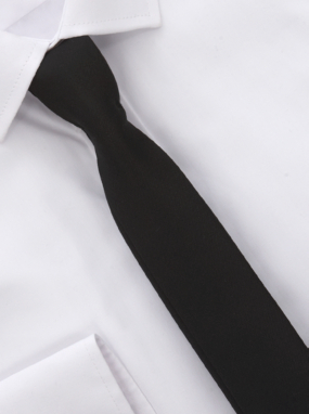 White Shirt and Slim Tie Set