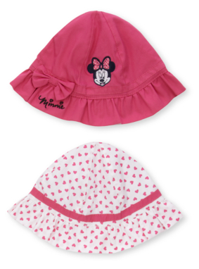 2 Pack Minnie Mouse Baby Hats