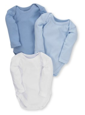 3 Pack Blue Bodysuits