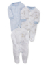 3 Pack Sleepsuits - Blue main view