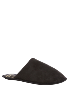 Faux Suede Mule Slipper