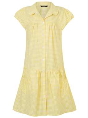 Yellow Gingham School Dress