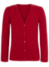 Girls School V-Neck Cardigan - Red main view