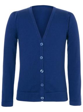 Girls School V Neck Cardigan