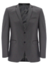 Grey Pinstriped Suit Jacket main view