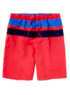 Striped Panel Swimshorts - Red main view
