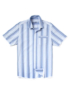 Textured Stripe Shirt - Blue main view