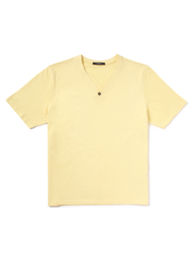 Y Neck T-Shirt - Yellow