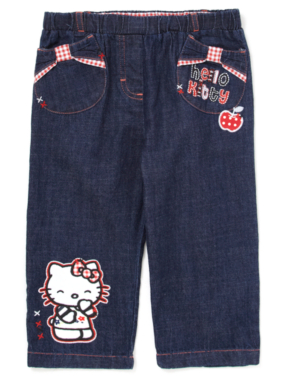 Hello Kitty Cropped Jeans