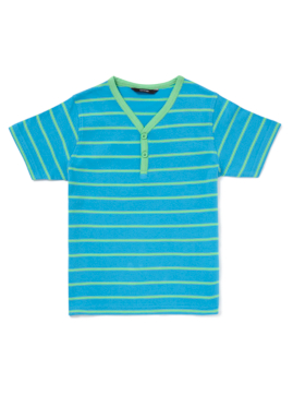 Striped Y Neck T-Shirt