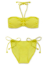 Yellow Bandeau Bikini Top alternative view