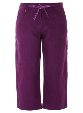 Moda Cropped Linen Trousers