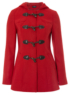Hooded Toggle Coat - Red main view