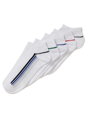 5 Pack Side Stripe Socks