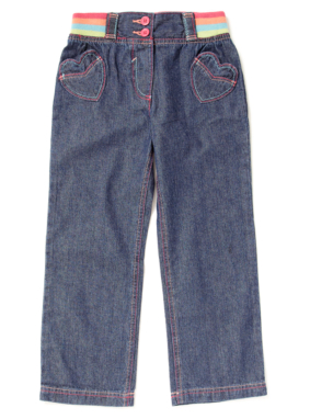 Ribbed Waistband Jeans