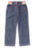 Ribbed Waistband Jeans main view