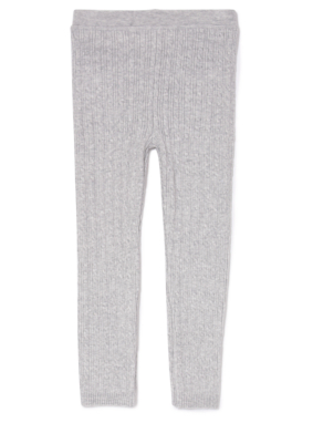 Cable Knit Leggings - Grey