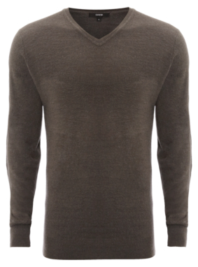 V Neck Jumper - Charcoal