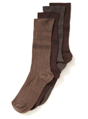 4 Pack Soft Top Socks