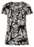 Moda Monochrome Print Jersey Top main view