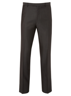Slim Fit Formal Suit Trousers - Charcoal